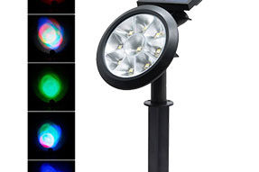 Lawn Solar Garden Light RGB Colorful LED Lighting Landscape for Courtyard